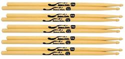 Baquetas Batera Clube by Liverpool 7A Clássica (Padrão 7A) Pacote com 5 Pares Marfim Wood Nirvana