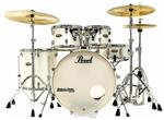 "Bateria Pearl Decade Maple Satin Finish White Satin 22"",10"",12"",16"" com Kit de Ferragens 830"