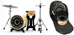 """Bateria Cajón Percussion Bateron BBCX500B Mini Bateria Cajón Kit Compacto com Bumbo 18"""", Caixa e Bag"""