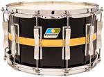 """Caixa Ludwig Classic Maple Slotted Coliseum Black Cortex 14x8"""" com Casco Ventilado e 12 Afinações"""