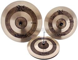 "Kit de Pratos Chang Cymbals DE Vintage Bronze B20 com Crash 16"", Chimbal 14"", Ride 20"" e Bag"