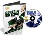 DVD Curso de Bateria para Intermediários com Independência, Solo, Pedal Duplo, Ghost Notes