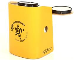 Bateria Cajón Percussion Gig Box GB-AM Amarelo Mini Bateria Cajón Kit Compacto