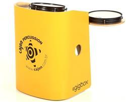 Bateria Cajón Percussion Gig Box GB-AM Amarelo Mini Bateria Cajón Kit Compacto