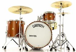 "Bateria Gretsch Broadkaster Satin Copper com Bumbo 22"", Tom 12"", Surdo 16"" (Shell Pack) Made in USA"