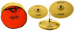 "Kit de Pratos Orion Twister TWR90 Medium Set com Ride 20"", Crash 16"" e Hihat 14"" + Bag"