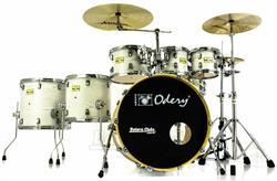 """Bateria Odery Fluence Jam Session FL.220 White Ash Maple 22"""",8"""",10"""",12"""",14"""",16"""" com Kit de Ferragens"""