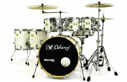 "Bateria Odery Fluence Jam Session FL.200 White Ash Maple 20"",8"",10"",12"",14"",16"" com Kit de Ferragens"