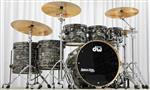 "Bateria DW Collectors Maple Finish Ply Black Nickel Oyster Glass 22"",8"",10"",12"",14"",16"""