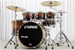 "Bateria Sonor Ascent Beech Burnt Fade Stage 3 Plus 22"",8"",10"",12"",16"" com Ferragens 400 Series"
