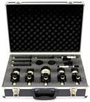 Kit de Microfones Vokal VDM7 com 7 Peças, Case e Sistema de Holder Flutuante