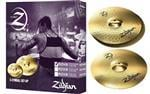 "Kit de Pratos Zildjian New Planet Z em Silver Nickel PLZ1418 com Chimbal 14"" e Crash Ride 18"""