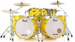 "Bateria Pearl Decade Maple Solid Yellow Double Bass 22"",22"",8"",10"",12"",14"",16"" com Ferragens 830"