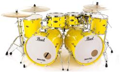 "Bateria Pearl Decade Maple Solid Yellow Double Bass 22"",22"",8"",10"",12"",14"",16"" c/ caixa (Shell Pack)"