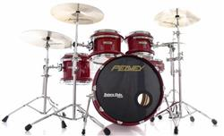 "Bateria Peavey RadialPro 1000 Maple Shell New Red 22"",10"",12"",14"" e Caixa 14x5,5"" (Raridade)"