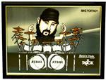 Quadro Pôster Mitos do Rock Mike Portnoy com Moldura e Vidro - Tamanho A3