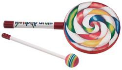"Tambor Infantil Remo Lollipop Drum 06"" com Mallet (Musicalização Infantil) 10642"