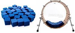 Abafador de Bumbo e Filtro DrumKubes Blue WKITBLU Bass Muffle Kit com 30 Cubos e Bag