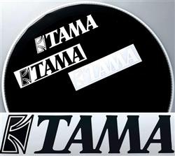 Adesivo de Bumbo Tama TLS80BK com Letras Pretas Original com 19cm de Largura