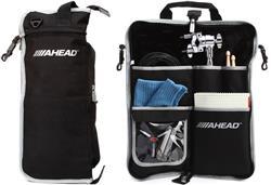 Bag de Baquetas Ahead SB2 Black Gray Plush Stick Case Padrão Top de Linha com Diversas Divisórias