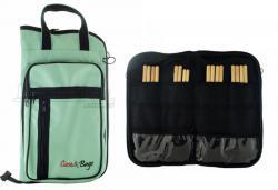 Bag de Baquetas Case & Bags Verde Água em Eco Couro Sintético Tamanho Extra Grande Top de Linha