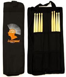 Bag de Baquetas Liverpool Compacta Black COM01-BAG Tamanho Menor com Diversas Divisórias