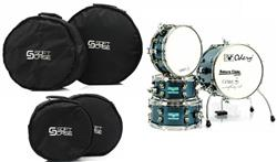 Bag de Bateria Odery Cafekit Soft Case Start Series com 4 Peças (1174)