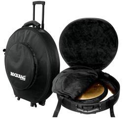 """Semicase Bag Rockbag Deluxe RB 22740B Plus com Rodinhas Pratos até 22"""" Semi Case + Rígido e Robusto"""