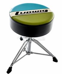 Banco Ludwig Atlas Classic Round Throne LAC49TH Blue Olive Padrão Top de Linha