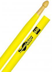 Baqueta Spanking Linha Luminosa 5B Clássica Amarela Fluorescente (4114AM)