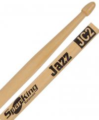 Baqueta Spanking Linha Natural Jazz JC2 Padrão 7A Comprida Ponta Flecha (113144)