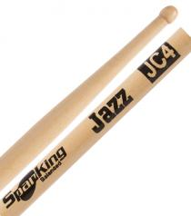 Baqueta Spanking Linha Natural Jazz JC4 Padrão 7A Comprida Ponta Bolinha (113145)
