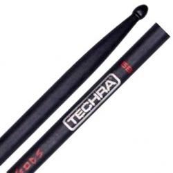 Baqueta Techra Hammer Of The Gods 5B Alta Durabilidade Fibra de Carbono Italiana dura até 6x mais