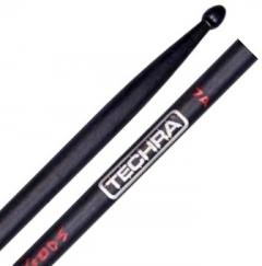 Baqueta Techra Hammer Of The Gods 7A Alta Durabilidade Fibra de Carbono Italiana dura até 6x mais