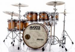 "Bateria Ayotte Classic Series Maple Sunburst 22"",8"",10"",12"",14"",16"" (Shell Pack) Made in Canada"