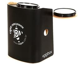 Bateria Cajón Percussion Gig Box GB-PR Preto Mini Bateria Cajón Kit Compacto