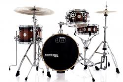 "Bateria DW Design Series Maple Mini Pro Tobacco Burst Compacta Bumbo 16"" e Caixa (Shell Pack)"