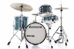 """Bateria Ludwig Breakbeats by Questlove Signature Azure Sparkle com Bumbo 16"""" Compacto (Shell Pack)"""