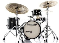 "Bateria Ludwig Breakbeats by Questlove Signature Black Sparkle com Bumbo 16"" Compacto (Shell Pack)"