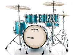 "Bateria Ludwig Classic Maple Teal Blue Sparkle 20"",8"",10"",12"",14"" (Shell Pack) Made in USA"