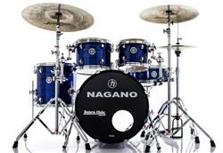 "Bateria Nagano Concert Celluloid Birch Brooklin Blue 20"",10"",12"",14"" com Kit de Ferragens"