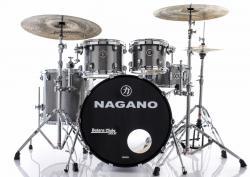 "Bateria Nagano Concert Celluloid Birch Iron Sparkle 20"",10"",12"",14"" com Kit de Ferragens"