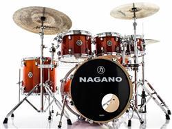 """Bateria Nagano Concert Lacquer Birch Smoke Red 20"""",8"""",10"""",12"""",14"""" com Kit de Ferragens"""