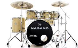 """Bateria Nagano Garage Rock Natural Ivory 22"""",8"""",10"""",12"""",16"""" com Peles Hidráulicas e Banco"""