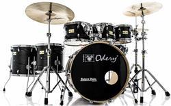 "Bateria Odery Fluence Jam Session FL.220 Black Ash Maple 22"",8"",10"",12"",14"",16"" com Kit de Ferragens"