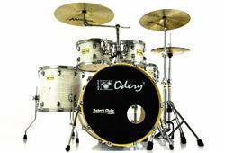 """Bateria Odery Fluence Jam Session FL.220 White Ash Maple 22"""",10"""",12"""",16"""" com Kit de Ferragens"""