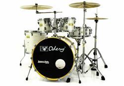 """Bateria Odery Fluence Jam Session FL.200 White Ash Maple 20"""",10"""",12"""",14"""" com Kit de Ferragens"""