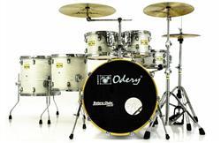 """Bateria Odery Fluence Jam Session FL.200 White Ash Maple 20"""",10"""",12"""",14"""",16"""" com Kit de Ferragens"""