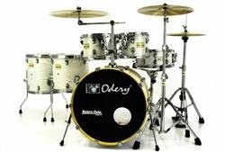 """Bateria Odery Fluence Jam Session FL.220 White Ash Maple 22"""",10"""",12"""",14"""",16"""" com Kit de Ferragens"""