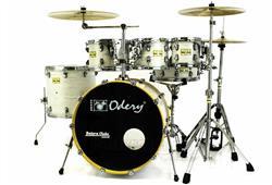 """Bateria Odery Fluence Jam Session FL.200 White Ash Maple 20"""",8"""",10"""",12"""",14"""" com Kit de Ferragens"""